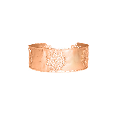 14k Rose Gold Diamond Cuff Bracelet