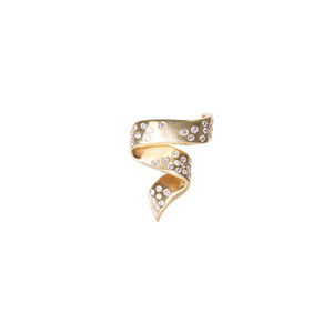 18k Yellow Gold Diamond Brooch