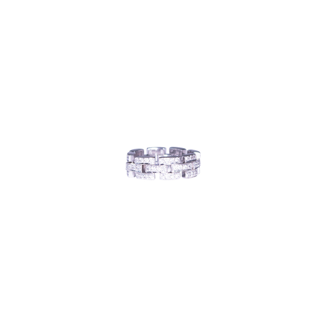 14k White Gold Flexible Eternity Diamond Band