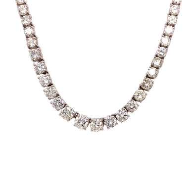 14k White Gold Riviera Necklace