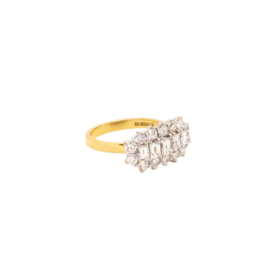 18k Yellow Gold And Platinum Diamond Ring