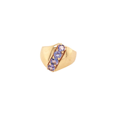 14k Yellow Gold Tanzanite Band