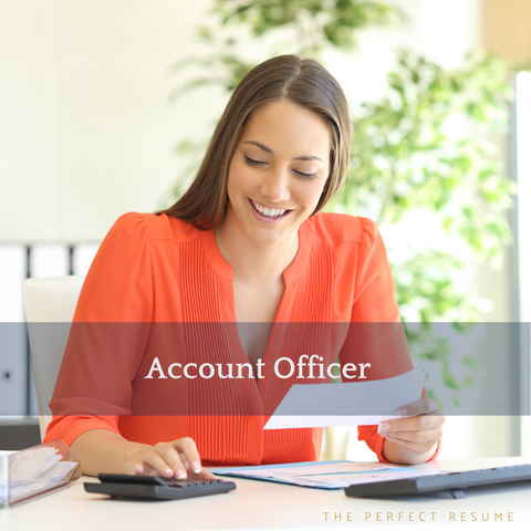 The Perfect Account Officer Resume Writing Tips