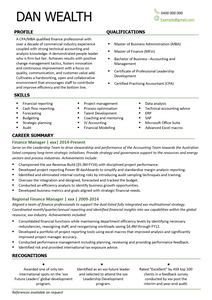 The Perfect Financial Resume Template