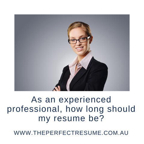 Experienced Professional | The Perfect Resume