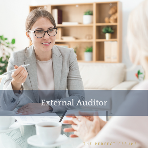 The Perfect External Auditor Resume Writing Tips
