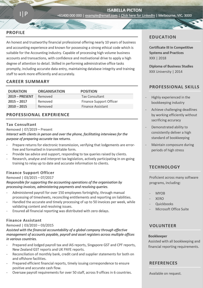 The Perfect Resume | Resume Design