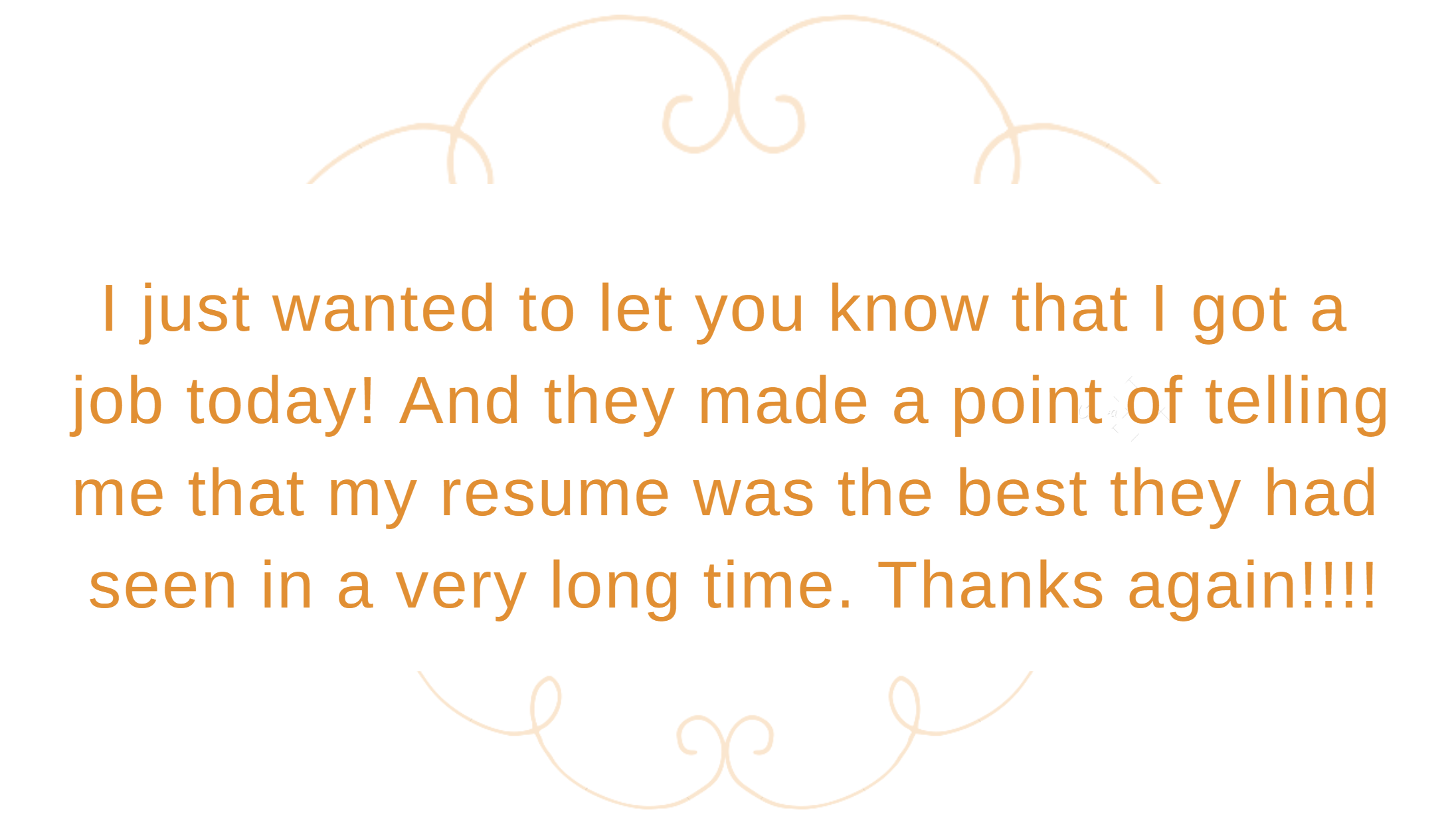 The Perfect Resume Customer Testimonial