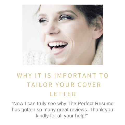 Why it is important to tailor your cover letter