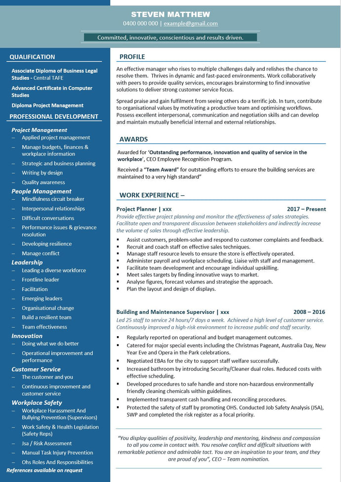 Gallery – The Perfect Resume