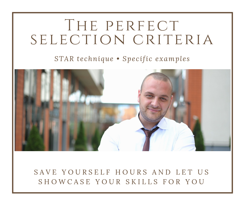 Address the key selection criteria