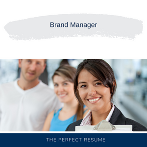 Brand Manager Resume Writing Services