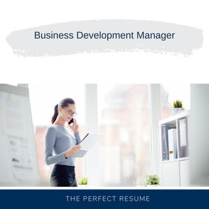 Business Development Manager Resume Writing Services