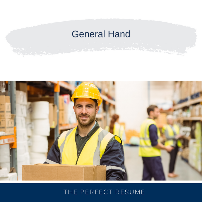 General Hand Resume Writing Services