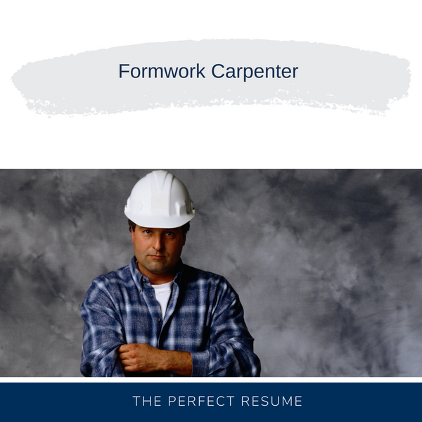 Formwork Carpenter Resume Writing Services