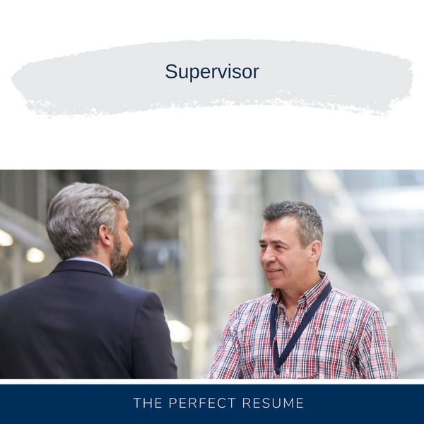 Supervisor Resume Writing Services