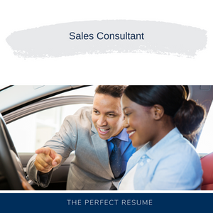 Sales Consultant Resume Writing Services