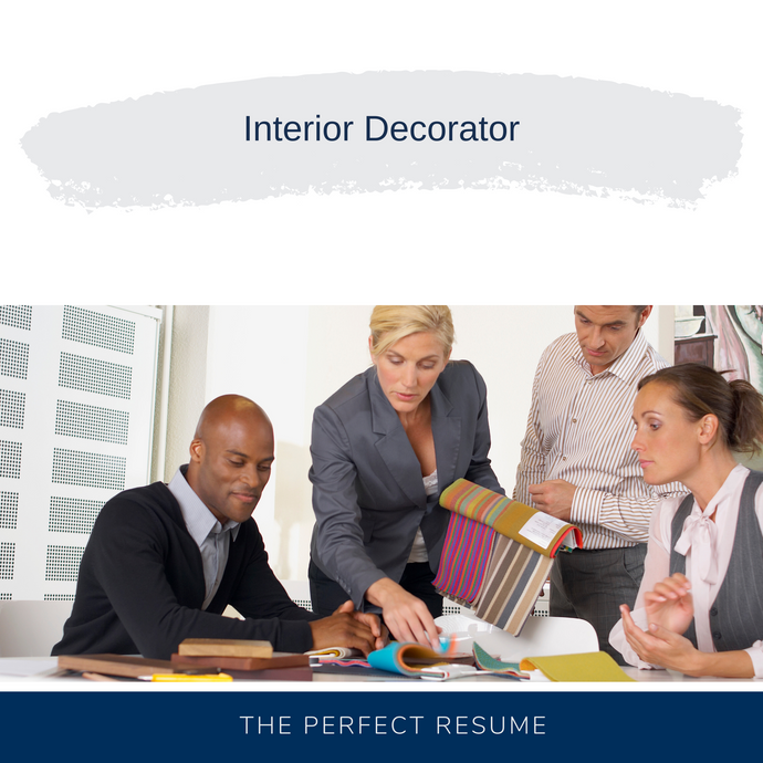Interior Decorator Resume Writing Services