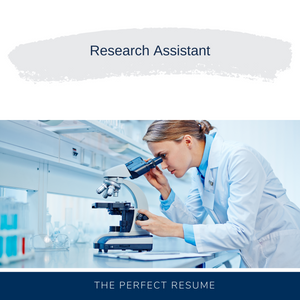 Research Assistant Resume Writing Services