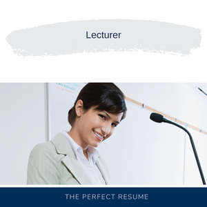 Lecturer Resume Writing Services