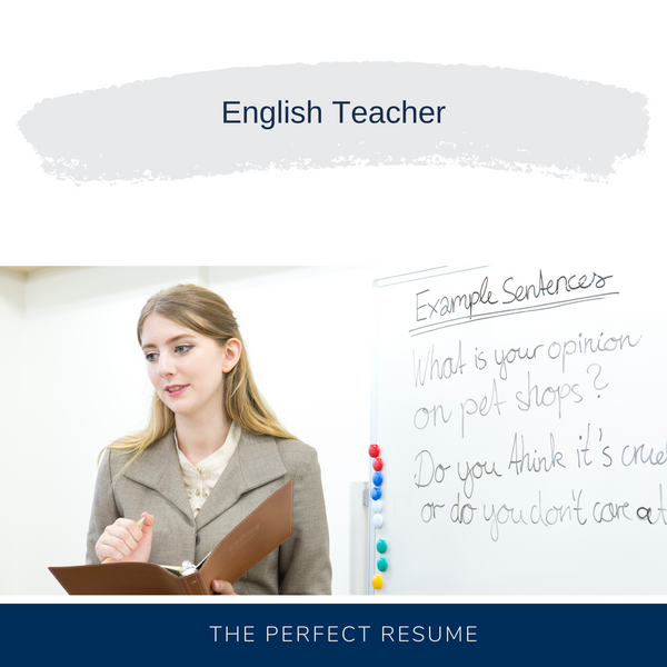 English Teacher Resume Writing Services