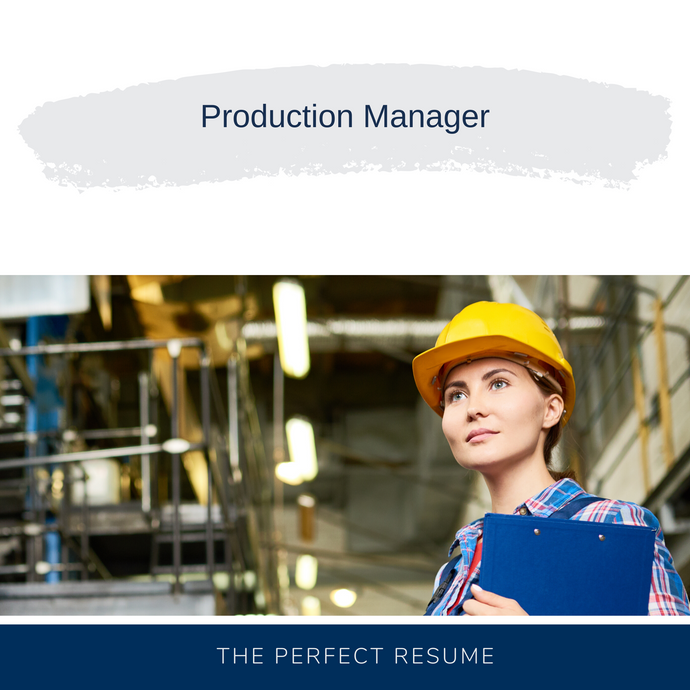 Production Manager Resume Writing Services