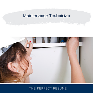 Maintenance Technician Resume Writing Services