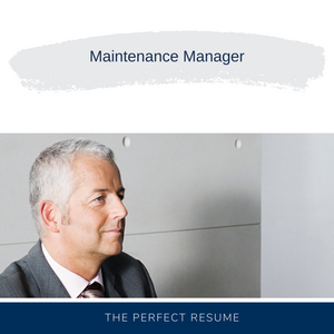 Maintenance Manager Resume Writing Services