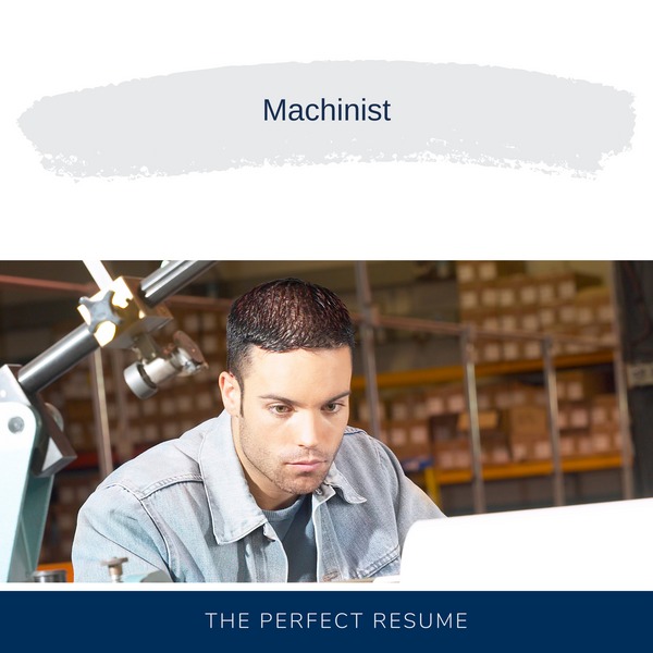 Machinist Resume Writing Services