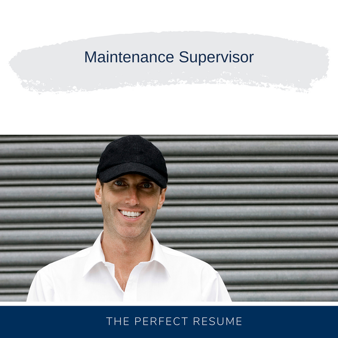 Maintenance Supervisor Resume Writing Services
