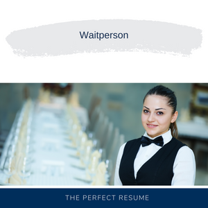 Waitperson Resume Writing Services