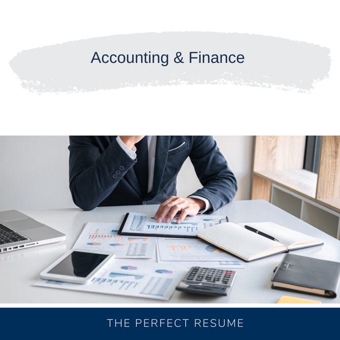 Accounting and Finance Resume Writing Services