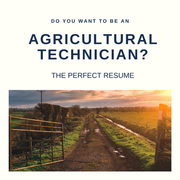 Agricultural Technician Resume Writing Services