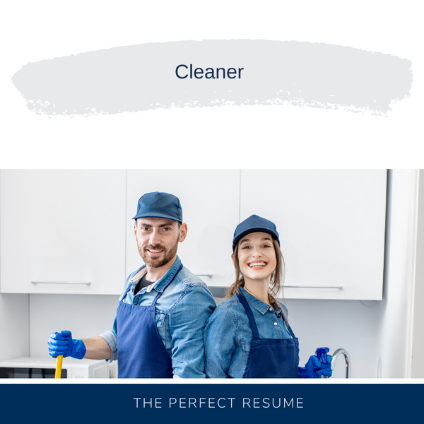 Cleaner Resume Writing Services