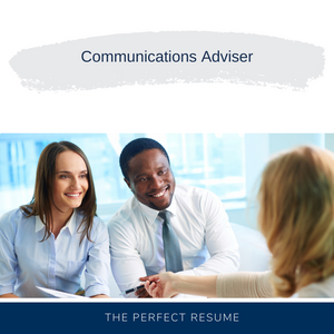 Communications Adviser Resume Writing Services
