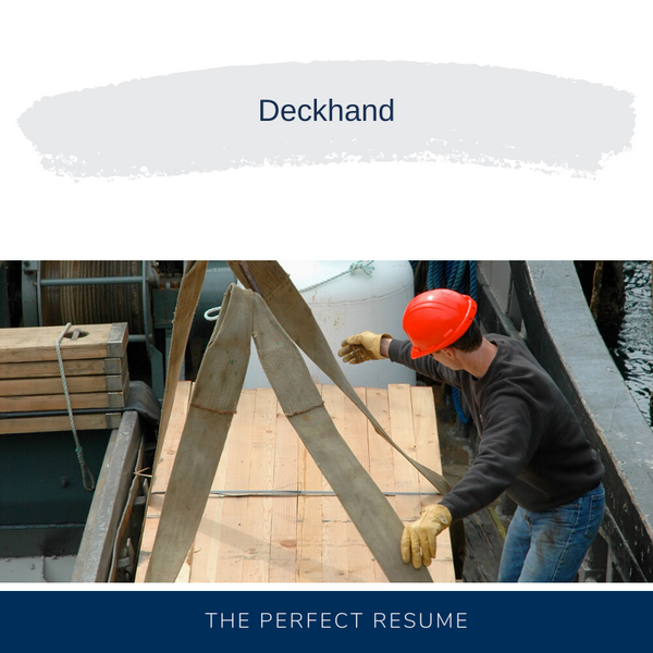 Deckhand Resume Writing Services