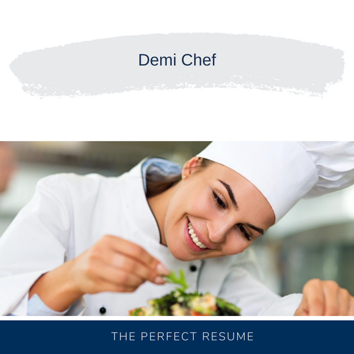 Demi Chef Resume Writing Services