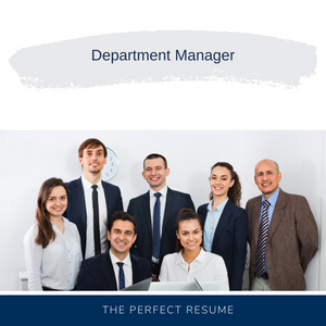 Department Manager Resume Writing Services