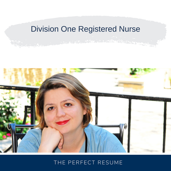 Division One Registered Nurse Resume Writing Services