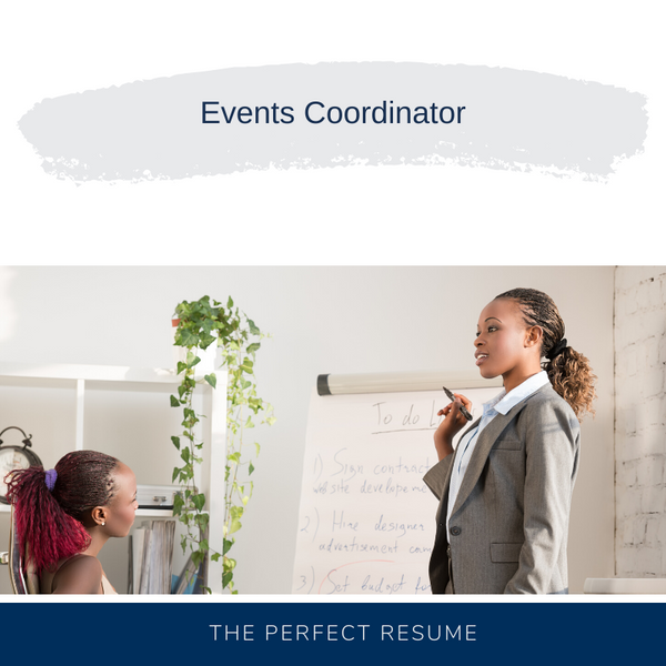 Events Coordinator Resume Writing Services