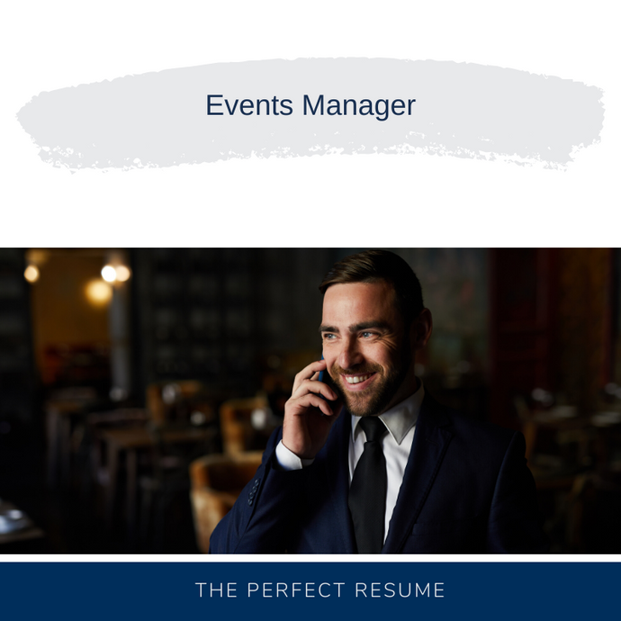 Events Manager Resume Writing Services