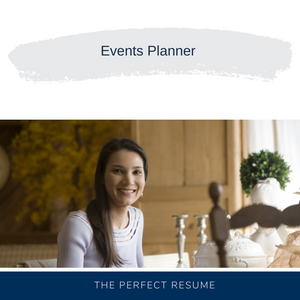 Events Planner Resume Writing Services