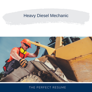 Heavy Diesel Mechanic Resume Writing Services