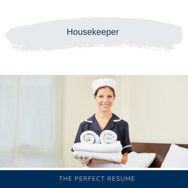 Housekeeper Resume Writing Services
