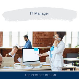 IT Manager Resume Writing Services