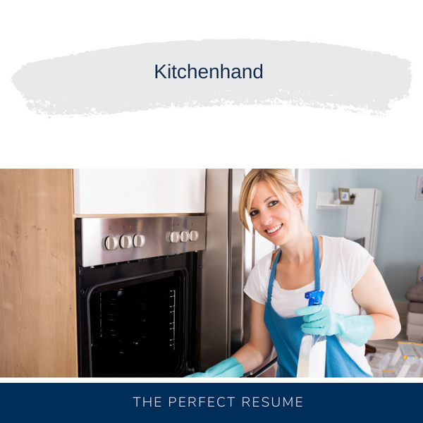 Kitchenhand Resume Writing Services