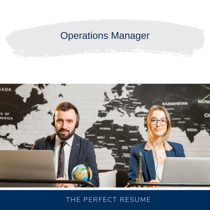Operations Manager Resume Writing Services