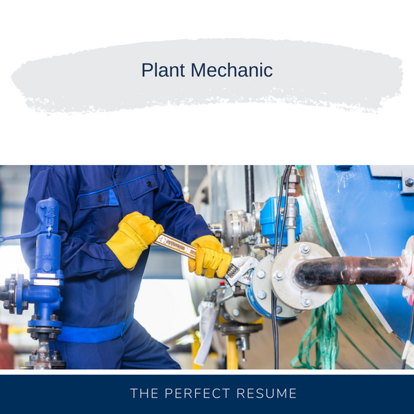 Plant Mechanic Resume Writing Services