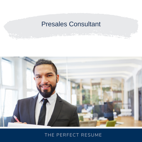 Presales Consultant Resume Writing Services