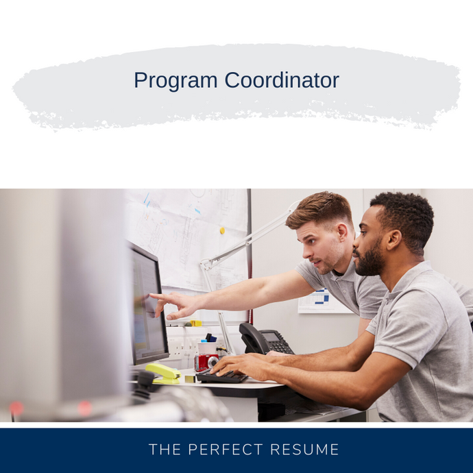 Program Coordinator Resume Writing Services